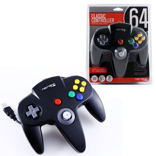 nintendo-64-classic-usb-enabled-controllerwiredby-retrolink-for-pc-mac-black-color