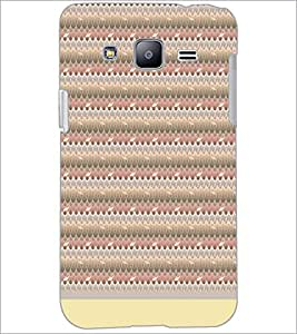 PrintDhaba Leaf Pattern D-1512 Back Case Cover for SAMSUNG GALAXY J2 (Multi-Coloured)