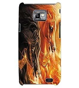 ColourCraft Horses Design Back Case Cover for SAMSUNG GALAXY S2 I9100