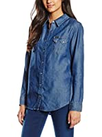 Lee Camisa Vaquera Regular Western (Azul Denim)