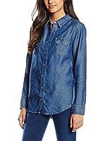 Lee Camisa Vaquera Regular Western (Azul Denim)