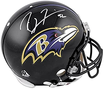 Ray Lewis Baltimore Ravens Autographed Pro-Line Riddell Authentic Helmet - Fanatics Authentic Certified