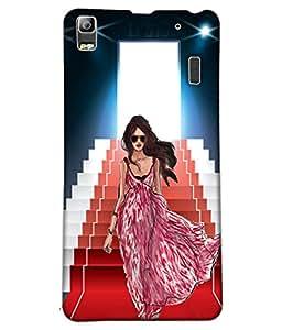 Fuson Ramp Walk Girl Back Case Cover for LENOVO A7000 - D4104