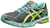 ASICS Women's GT-1000 3 Running Shoe,Charcoal/Flash Yellow/Mint,8 M US