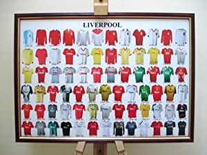Liverpool Fc Framed Football Shirt Poster Through The Ages