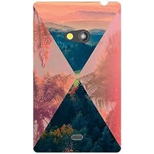Nokia Lumia 625 Back Cover - Triangled Designer Cases