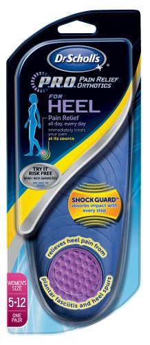 Dr Scholl's Pro Pain Relief Orthotics for Heel W (5-12), (Pack of 2)