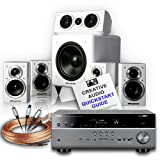 Creative Audio CA-HC31-TW Home Cinema System (Yamaha RX-V675 Titanium + Wharfedale DX-1 HCP Gloss White + Free £120 cable bundle + Free 11 page Creative Audio Quickstart Guide). 2 Year Guarantee + Free next working day delivery (most mainland UK address