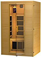 2015 Model JNH Lifestyles 2 Person Far Infrared Sauna 5 Carbon Fiber Heaters - Blowout Sale!