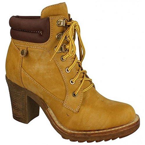 Spot On - Stivaletti alla caviglia con tacco alto - Donna (EU 40) (Miele)