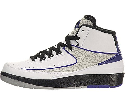 Images for Air Jordan II (2) Retro (Kids) - White / Dark Concord-Black-Wolf Grey, 5.5 M US