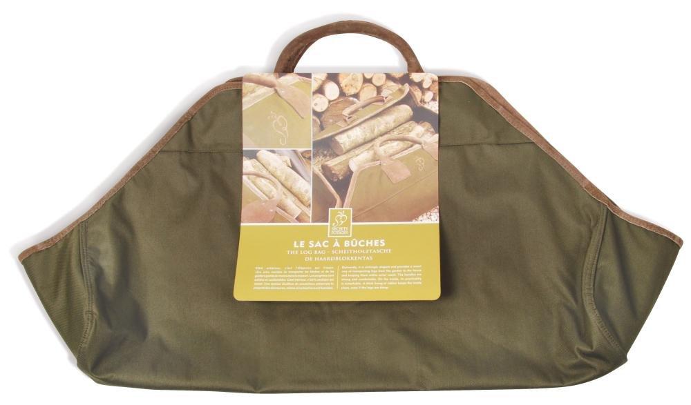 5 Stück Esschert Design Kaminholztasche, Brennholztasche in dunkelgrün, ca. 90 cm x 44 cm x 2 cm   Kundenbewertung und weitere Informationen