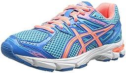 ASICS GT 1000 3 GS Running Shoe (Little Kid/Big Kid),Turquoise/Hot Coral/Blue,5.5 M US Big Kid