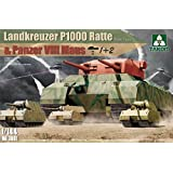 Takom 1/144 Landkreuzer P1000 Ratte & Panzer VIII Maus (1+2) NO. 3001
