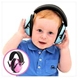 My Happy Tot Hearing Protection Headphones. Noise Canceling for Children & Infants, Fully Adjustable for 0-12 Yrs. Low Profile Cups, Padded 'Snug Fit' Professional Earmuffs for Kids (Color: Blue)