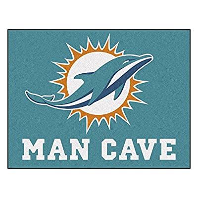 FANMATS 14324 NFL Miami Dolphins Nylon Universal Man Cave All-Star Mat