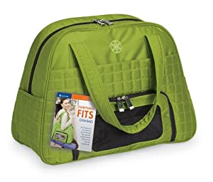 Gaiam Everything Fits Eco-Friendly Recycled Gym Bag (Green)