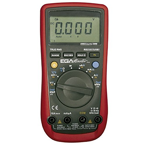 Ega-master 51260 - Automocion multimetro 400a-10a ac / dc 400a-10a / 4v-1000v dc / 40 mv-1000v ac / egatronik temperatura