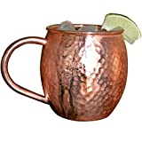 Copper Moscow Mule Mugs by Morken - Set of 2 - 100% Copper - Hammered