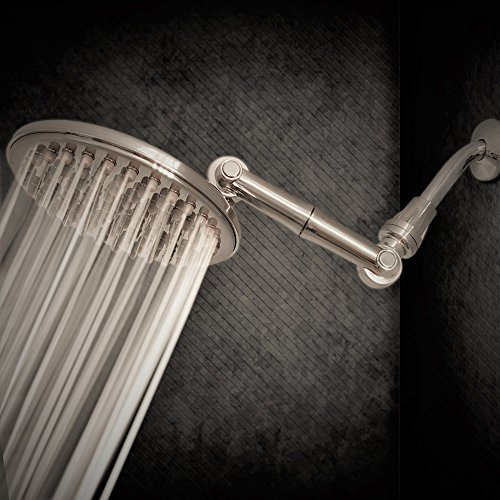 37 off 9 5 inch high pressure rainfall shower head with 6 way adjustable extension arm 109. Black Bedroom Furniture Sets. Home Design Ideas