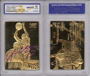1996-97 KOBE BRYANT FLEER 23K GOLD ROOKIE CARD (Signature Edition)