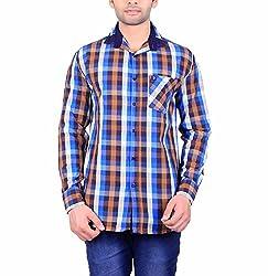 Cotblend Men's Casual Shirt (COTBLEBD5-XL, Multi-Coloured, XL)