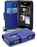 Cadorabo ! PREMIUM - Book Style Hülle im Portemonnaie Design für Nokia Lumia 800 in KÖNIGS-BLAU