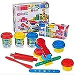 10 Pieces Kids Play Dough & Tools Set...