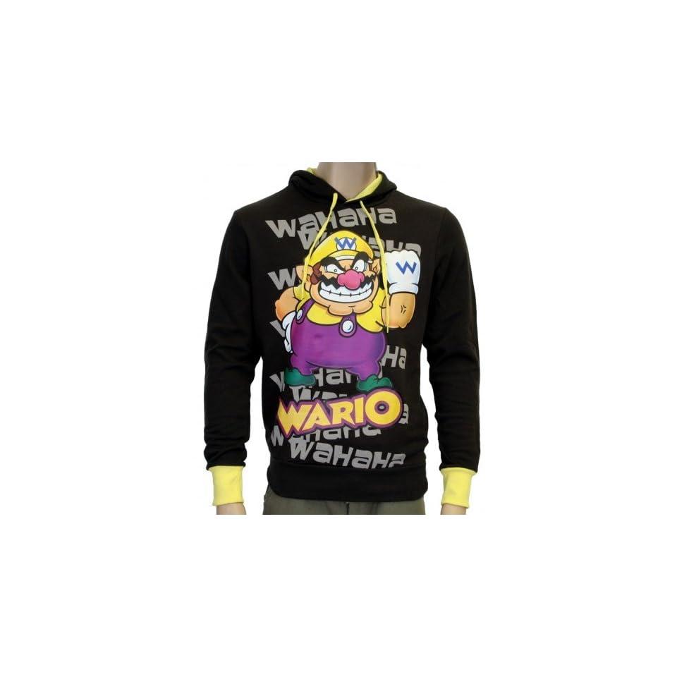 WARIO Super Mario NINTENDO WII Hoodie Sweatshirt Sport