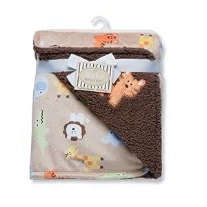 Baby Starters Safari Print Reversible Blanket, Brown