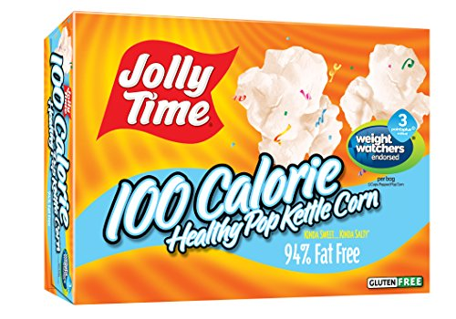 Jolly Time Healthy Pop Kettle Corn - 100 Calorie Microwave Popcorn Mini Bags, 4-Count Boxes (Pack of 12) (Kettle Corn Mini Bags compare prices)
