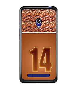 PrintDhaba Numerology Number 14 D-3647 Back Case Cover for ASUS ZENFONE 5 A501CG (Multi-Coloured)