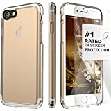 iPhone 7 Case, (Clear) SaharaCase Protective Kit Bundle with [ZeroDamage Tempered Glass Screen Protector] Rugged Protection Anti-Slip Grip [Shockproof Bumper] Anti-Scratch Back Slim Fit - Clear