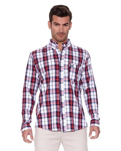 New Caro Camicia Uomo [Bianco/Rosso]