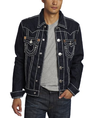 True Religion - Mens Jimmy Super T Denim Jacket in Body Rinse, Size: X-Large, Color: Body Rinse