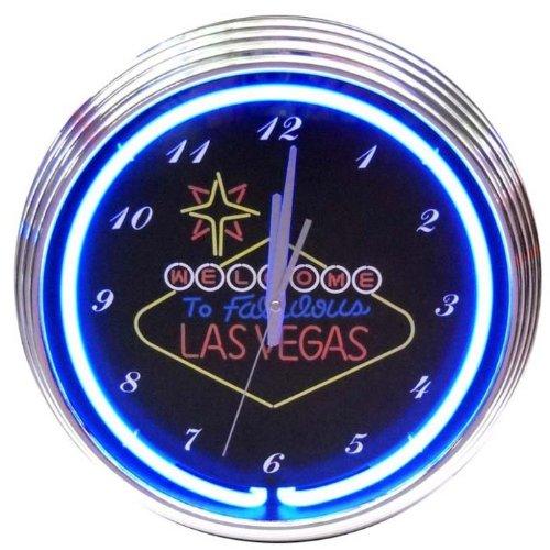 Las Vegas Sign Neon Clock