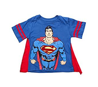 "DC Comics Boys Superman ""Caped Crusader"" T-Shirt with Cape Set"