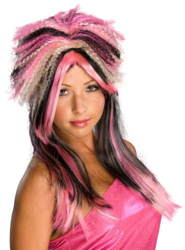 Wig, Black And Pink Attitude - 1