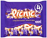 Cadbury Picnic 4 Bars (Pack of 5, Total 20 Bars)