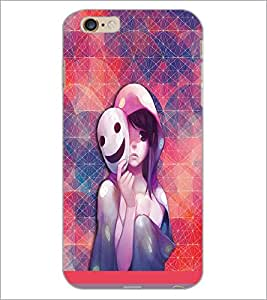 PrintDhaba Mask Girl D-3703 Back Case Cover for APPLE IPHONE 6S PLUS (Multi-Coloured)