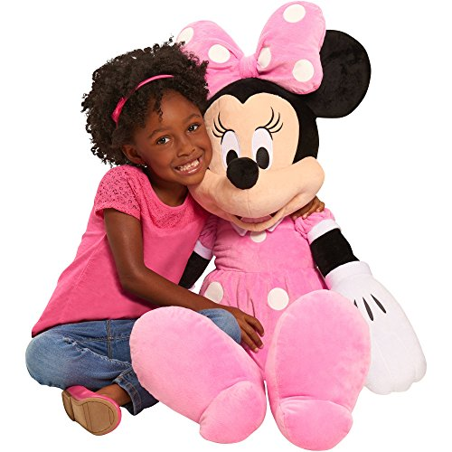 Disney Minnie Mouse Life Size 40 Inch Giant Super Soft Plush Stuff Toys for Kids, Pink