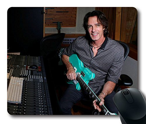 Custom Pop music star Mouse Pad with Rick Springfield Guitar Smile Studio Armchair Non-Slip Neoprene Rubber Standard Size 9 Inch(220mm) X 7 Inch(180mm) X 1/8 Inch(3mm) Desktop Mousepad Laptop Mousepads Comfortable Computer Mouse Mat