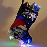 "18"" NFL Buffalo Bills Plush Lighted Fiber Optic Christmas Stocking"