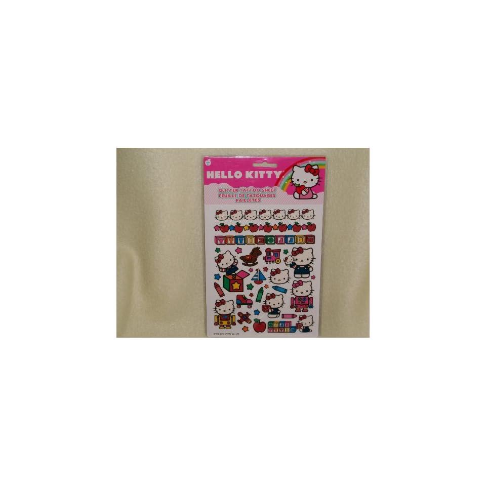 Hello Kitty Glitter Tattoo Sheet