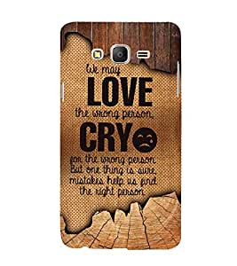 Love Wrong Person Cute Fashion 3D Hard Polycarbonate Designer Back Case Cover for Samsung Galaxy On7 G600FY :: Samsung Galaxy On 7 (2015)