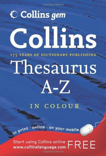 Thesaurus A-Z (Collins GEM) PDF