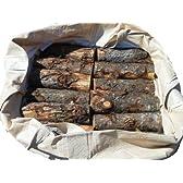 薪 カラマツ丸太末口10~25cm玉切 軽トラック1台分約1立米 袋入り お持ち帰り商品