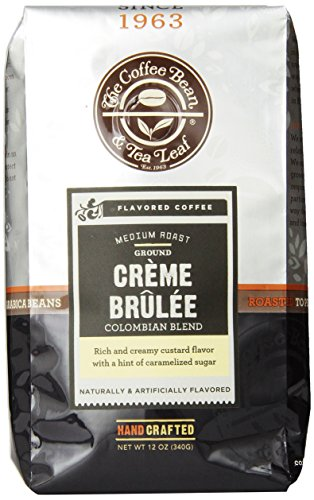 The Coffee Bean & Tea Leaf, Hand-Roasted Creme Brulee Ground Coffee, 12-Ounce Bags (Pack Of 2)