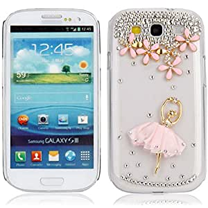 Pink Skirt Ballerina Crystal Case for Samsung Galaxy SIII S3 i9300