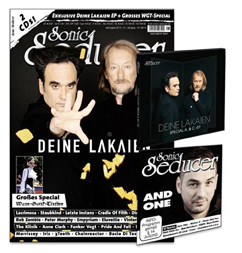 Sonic Seducer 07/08-14 mit Deine Lakaien-Titelstory + 2 CDs, darunter eine exkl. 3-Track EP von Deine Lakaien mit dem Song Farewell + 20 Seiten ... Lacrimosa, Cradle Of Filth, Eluveitie u.v.m.